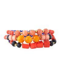 Nakamol - Blue Mixed Beaded Bracelets - Lyst