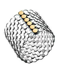 John Hardy - Multicolor Dot Sterling & 18k Chain Mail Link Bracelet - Lyst