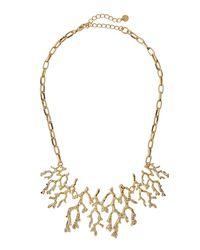 Lydell NYC - Metallic Crystal Branch Bib Necklace - Lyst