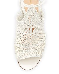 Gianvito Rossi - Natural Woven Leather Sandals - Lyst