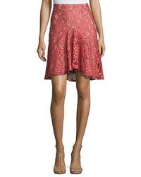 Alexis - Pink Braxten Lace Flared Godet Skirt - Lyst