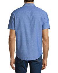 Original Penguin - Blue Men's Diamond Dobby Button-down Sport Shirt for Men - Lyst