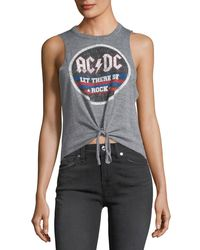 Chaser - Gray Let There Be Rock Ac/dc Tank - Lyst