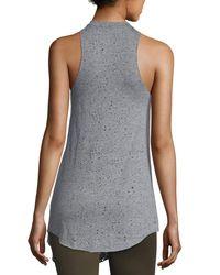 Koral Activewear | Gray Rep Sleeveless Tunic Top | Lyst