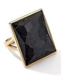 Ippolita | Black 18k Rock Candy® Gelato® Quartz Doublet Baguette Ring | Lyst