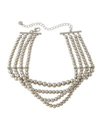 Lydell NYC - Metallic Layered Ball-chain Choker Necklace - Lyst