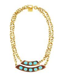 Ashley Pittman - Blue Ukuta Horn & Turquoise Double-strand Statement Necklace - Lyst