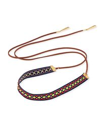 Fragments - Multicolor Woven Wraparound Choker Lariat Necklace - Lyst