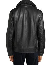Marc New York - Brown Amherst Faux-leather Bomber Jacket for Men - Lyst