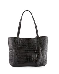 Nancy Gonzalez - Black Erica Small New Python Leaf Tote Bag - Lyst
