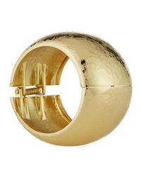 Kenneth Jay Lane - Metallic Wide Hinged Cuff Bracelet - Lyst