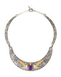 Konstantino | Purple Erato Swan Collar Necklace W/ Amethyst Doublet | Lyst