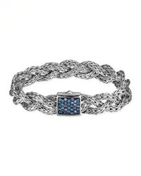 John Hardy | Blue Classic Chain Small Braided Silver Bracelet | Lyst