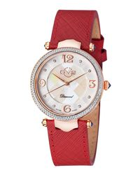Gv2 - Red 37mm Sassari Leather Diamond Watch - Lyst