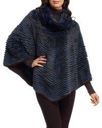 Gorski | Blue Cashmere-lined Mink Fur Poncho | Lyst