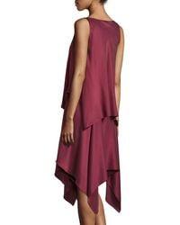 Elizabeth and James - Red Greer Sleeveless Satin Handkerchief Dress - Lyst