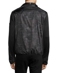 MICHAEL Michael Kors Black Camo-print Nylon Active Jacket for men