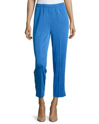 Ming Wang | Blue Straight-leg Ankle Pants | Lyst