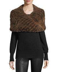 Neiman Marcus - Brown Luxury Rabbit Fur Snood - Lyst