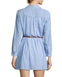 Joie | Blue Sehun Striped Poplin Shirtdress | Lyst