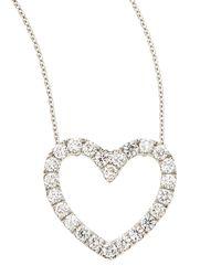 Neiman Marcus - Multicolor 18k Diamond Heart Pendant Necklace - Lyst