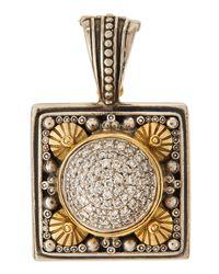 Konstantino - Metallic Square Pavé Diamond Pendant Enhancer - Lyst