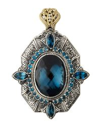 Konstantino | Thalassa Oval Enhancer/pendant With London Blue Topaz | Lyst