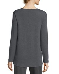 Natori - Gray Cocoon V-neck Top - Lyst