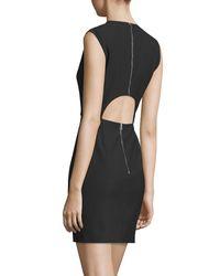 Elizabeth and James - Black Mckay Sleeveless Open-back Mini Dress - Lyst