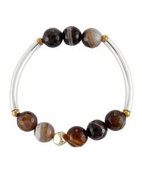 Nakamol | Brown Quartz Beaded Stretch Bracelet | Lyst