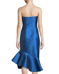 Sachin & Babi - Blue Cleo Strapless Mermaid Knee-length Dress - Lyst