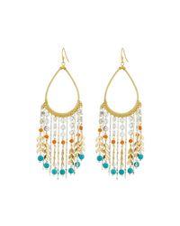Nakamol | Metallic Golden Teardrop Beaded Fringe Earrings | Lyst
