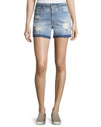Joe's Jeans - Blue Released-hem Denim Shorts - Lyst