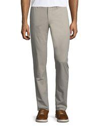 Original Penguin - Gray Basic Twill Five-pocket Pants for Men - Lyst