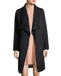 Diane von Furstenberg - Black Double-face Wool Wrap Coat - Lyst
