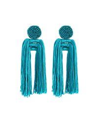 Panacea - Blue Nylon Multi-tassel Earrings Teal - Lyst