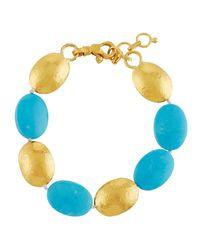 Gurhan | Blue Jordan 24k Turquoise Beaded Bracelet | Lyst