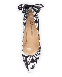 Neiman Marcus - Black Verity Printed Bow Pumps - Lyst