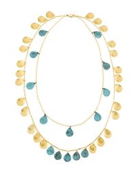 Panacea - Blue Double-strand Patina Necklace - Lyst