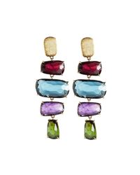 Marco Bicego - Blue Murano 18k Four-drop Multi-gemstone Earrings - Lyst