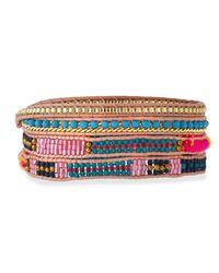Nakamol | Multicolor Woven & Beaded Wrap Bracelet | Lyst