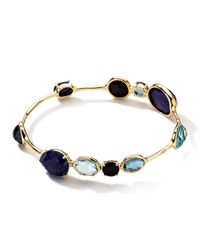 Ippolita - Blue 18k Rock Candy® Gelato Kiss 10-stone Bangle In Mystère - Lyst