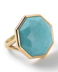 Ippolita - Blue 18k Rock Candy Octagonal Ring In Turquoise - Lyst