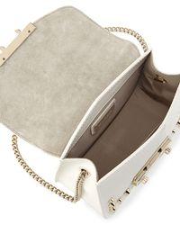 Furla - White Julia Mini Studded Leather Crossbody Bag - Lyst