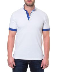 Maceoo - White Drop Picque Polo Shirt for Men - Lyst