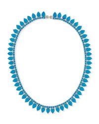 Fallon - Blue Monarch Pointed Choker Necklace - Lyst