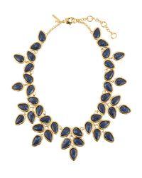 Lele Sadoughi - Blue Palm Leaf Statement Collar Necklace - Lyst