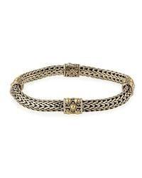 John Hardy - Metallic Jaisalmer Gold & Silver Four Station Bracelet Size M - Lyst