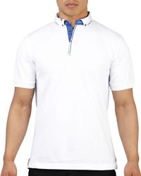 Maceoo - White Shaped Fit Watercolor-collar Polo Shirt for Men - Lyst