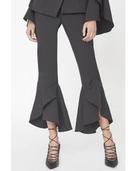 Lavish Alice - Bell Ruffle Tailored Trousers In Black - Lyst